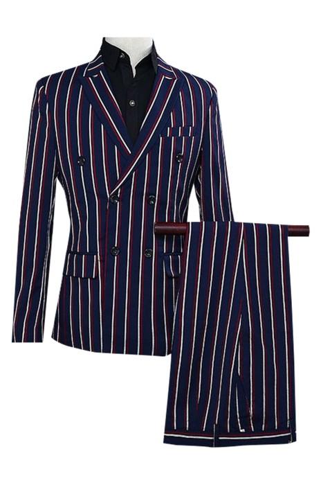 SKMS039   設計簡約正裝男士 長袖連衣   男士休閒   划船西裝外套   一粒雙排扣   雙開衩   深藍   西裝外套工廠
