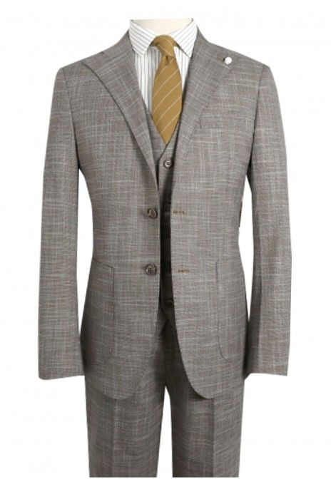 SKMS043   設計咖啡色西裝外套   英伦绅士   衣袖贴布   装饰修身   儒雅时尚雅痞   西装  肘部貼飾西裝外套