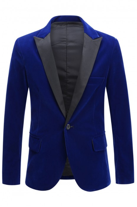 SKMS049   設計天鵝絨西裝外套   酒紅色時尚休閒西裝外套   婚禮新郎西裝外套