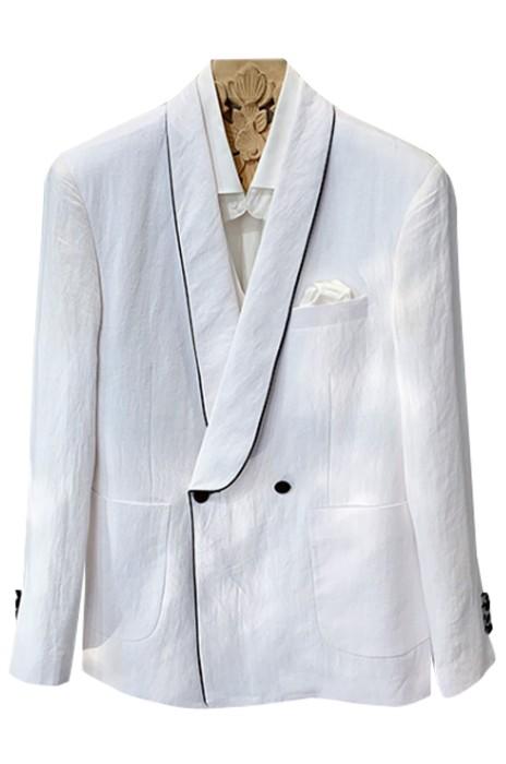 SKMS050    白色亞麻修身小西裝外套    男士韓版   潮流休閒   時尚西服上衣   白色亞麻夾克