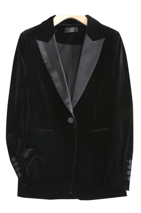 SKLS006  訂購天鵝絨小西裝   外套女春季新款   修身顯瘦氣質   絲絨西服女   oversize  鬆身