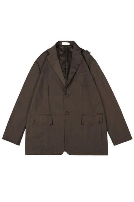 SKLS007   訂購休閒時髦  顯氣場   西裝潮人男女寬鬆   小墊肩西服套裝外套