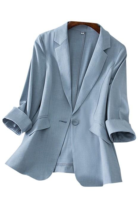 SKLS041  訂購天絲亞麻小西裝外套女    七分袖   韓版  氣質修身顯瘦西服女上衣  西裝領