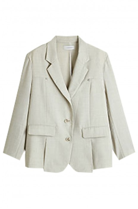 SKLS049   開衩休閒小西裝外套   女夏薄款西服   復古氣質的西裝領  修飾頸脖線條   彰顯精神   前口袋下開衩設計  增添衣服的層次感和時髦感