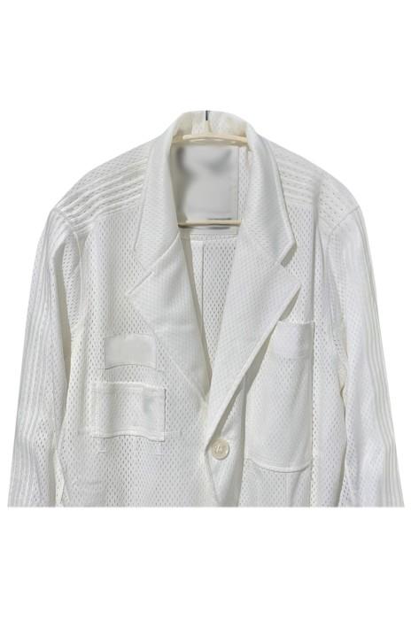 SKLS050  設計黑白西裝   籃球網格條紋運動外套西裝    運動西裝外套