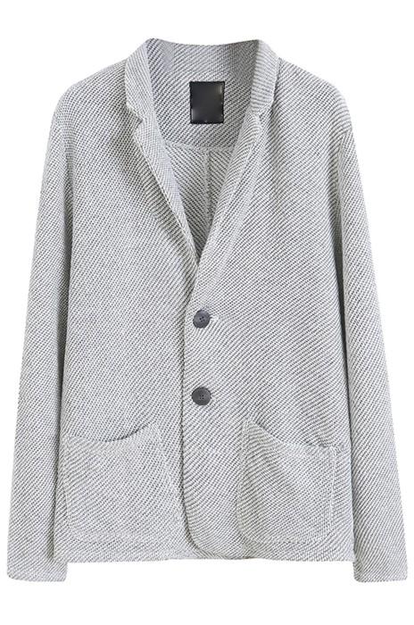 SKLS054   設計復古辦公室西裝外套    粗花呢毛圈棉質小西裝外套    韓版氣質西服外套