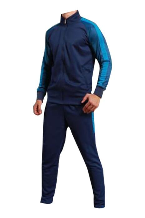 SKTAFC002 訂製長袖運動套裝 設計足球 健身 訓練 籃球兩件套運動服 拉鏈外套 運動套裝製衣廠
