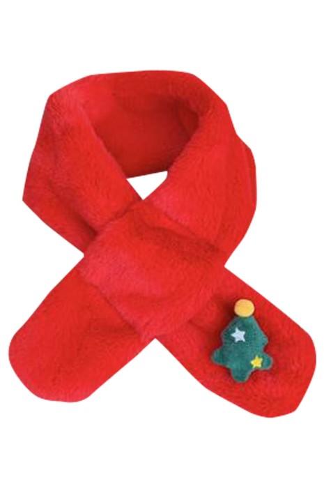 SKCCS001 訂製兒童珊瑚絨圍脖  設計聖誕圍巾 保暖  圍巾中心