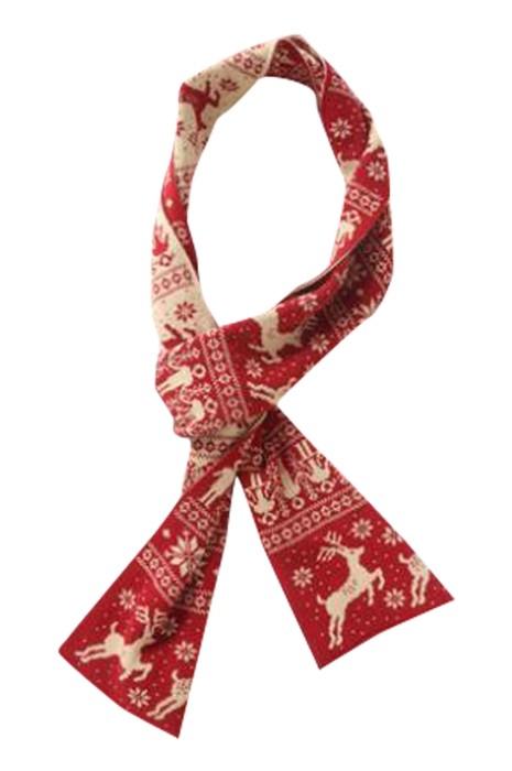 SKCCS002 製造兒童圍巾 設計針織保暖圍巾 聖誕圍巾 圍巾中心