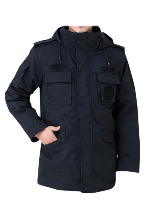 SKSU002 製造保安工作服 設計多功能口袋 可拆卸加厚保暖內膽 腰部抽繩 工廠車間 物業維修 物業保安 工作服中心