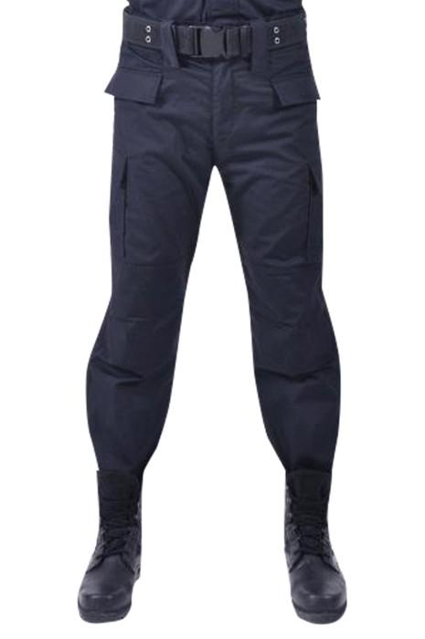SKSU003 大量訂製保安訓練褲  設計魔術貼褲腳 膝蓋側面有口袋保安訓練褲中心