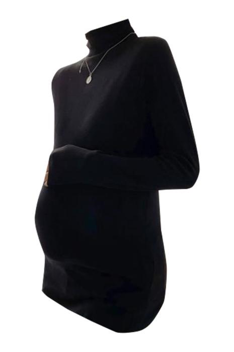 SKUFPW002 製造高領孕婦裝  設計長袖保暖孕婦裝 孕婦裝中心