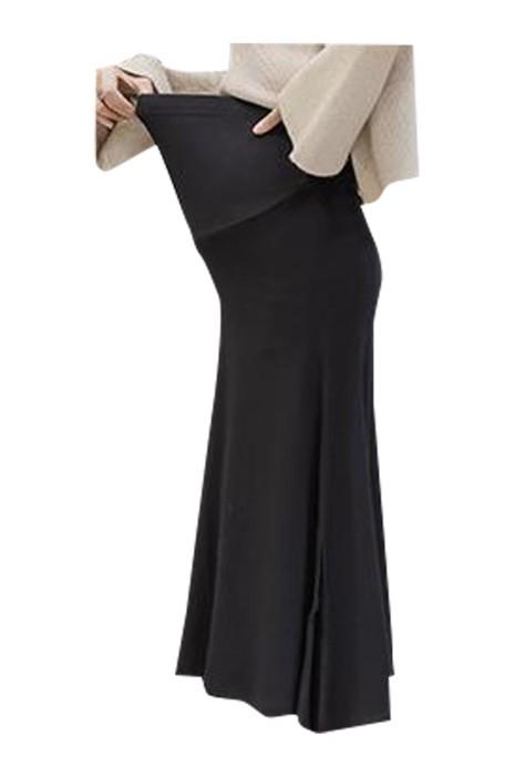 SKUFPW008  製造孕婦半身裙 時尚設計針織大擺半身裙 開叉裙 孕婦半身裙中心