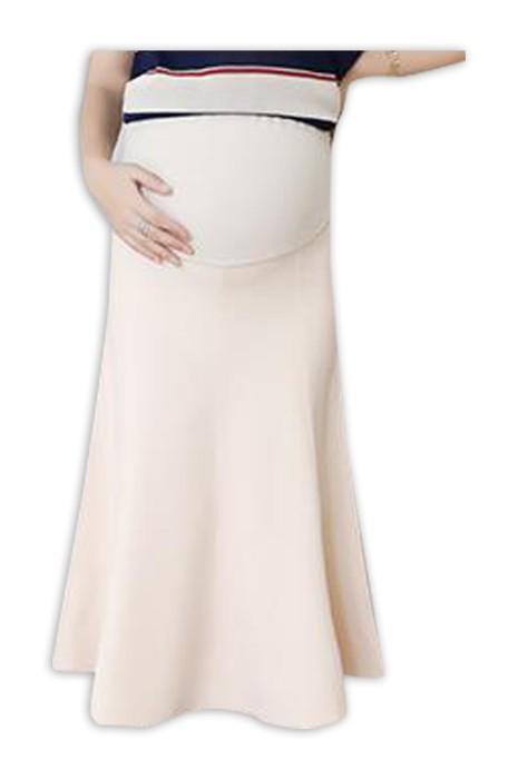 SKUFPW009 製造孕婦半身裙 時尚設計針織大擺半身裙 托腹包臀中長半身裙 孕婦半身裙中心