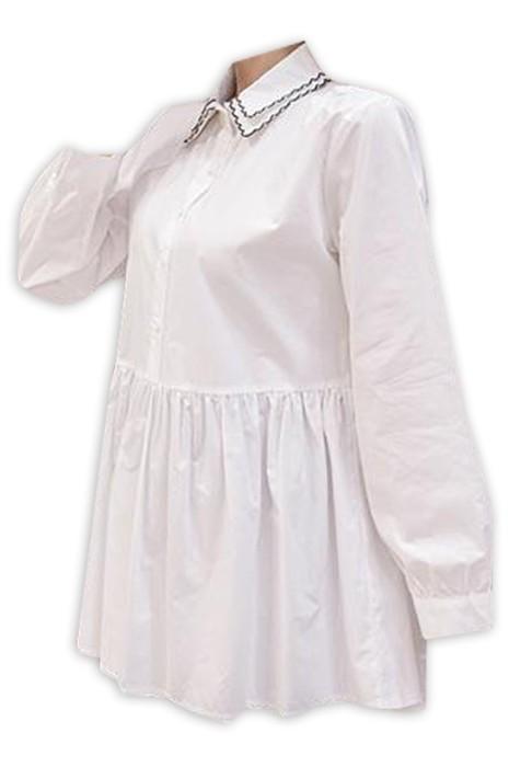 SKUFPW010 網上下單訂購長袖襯衫孕婦裝 時尚設計雙層翻領工作孕婦裝 孕婦裝中心