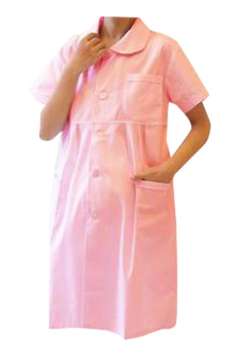 SKUFPW017 製造護士服孕婦裝 設計短袖孕婦裝 翻領 孕婦裝中心