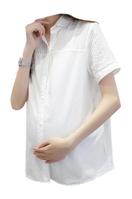 SKUFPW020  網上下單訂購短袖孕婦裝 設計襯衫工作服孕婦裝 孕婦裝中心