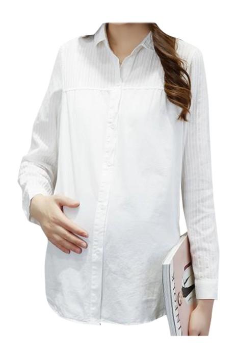 SKUFPW021 製造長袖工作服孕婦裝  設計寬鬆孕婦裝襯衫 孕婦裝供應商