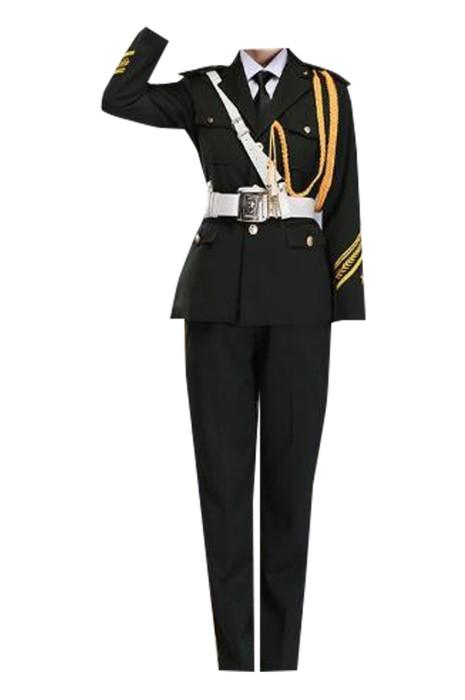SKFRS002  訂製升旗手服  設計升旗班儀儀仗隊袖口升旗手服 步操 升旗手服供應商