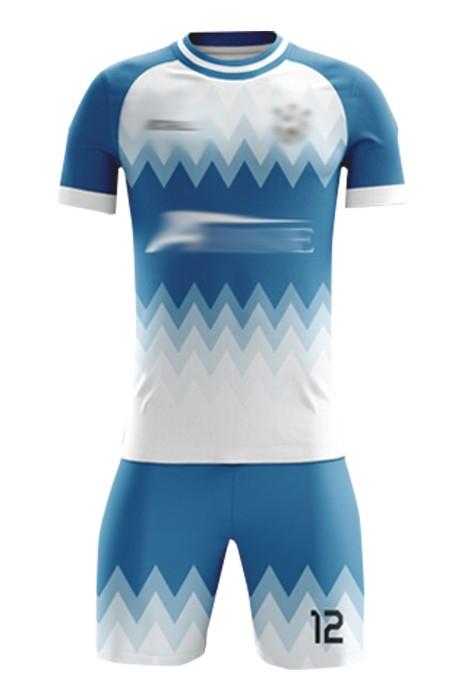 訂購圓領團隊足球服 設計印人名logo足球服套裝 足球服中心  FJ005