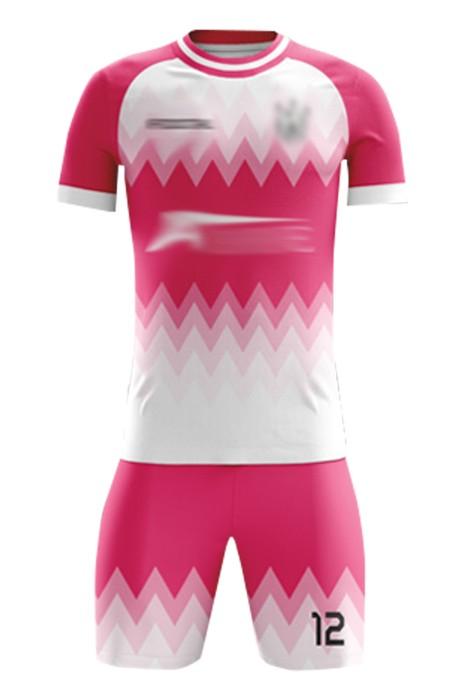 訂購熱身賽足球服  自訂DIY印花圓領牛角袖足球服套裝 足球套裝中心 FJ006