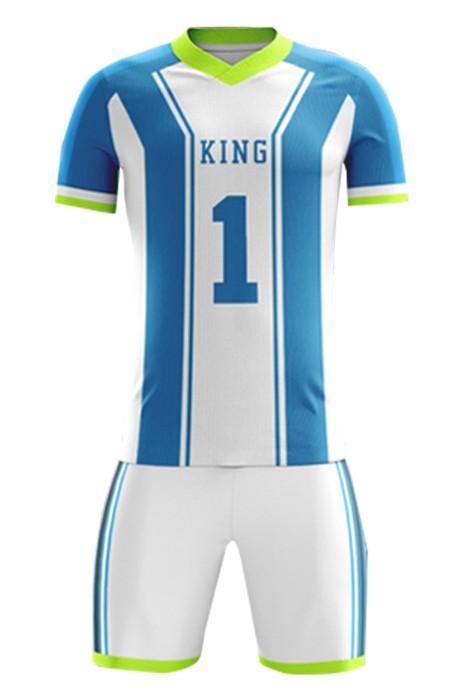 大量訂製球隊套裝  自訂橡筋腰圍間條V領足球服 足球套裝專門店 FJ009