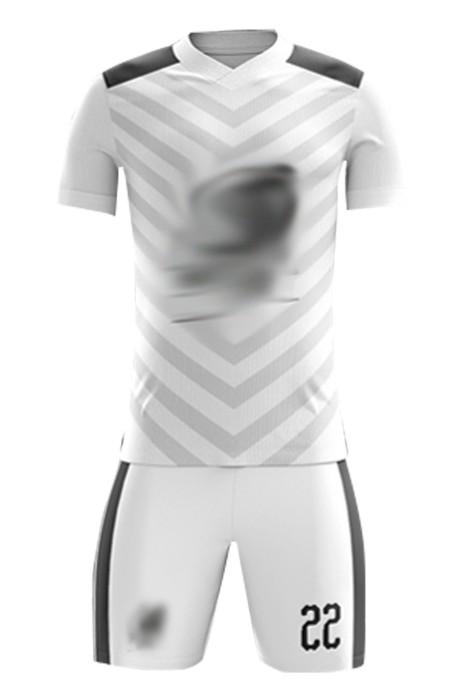 訂造親子裝足球運動服  設計淨色V領印花足球套裝 足球服專門店 FJ011