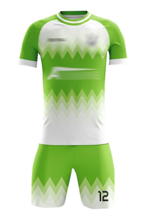 訂造社團足球服 設計撞色圓領短袖套裝足球服 足球套裝生產商  FJ012