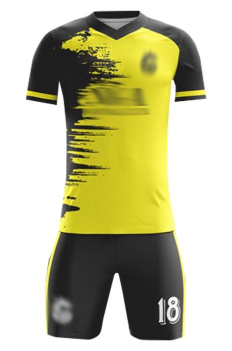 訂造友誼賽足球服 自訂印花撞色袖足球服套裝 足球服生產商 FJ018