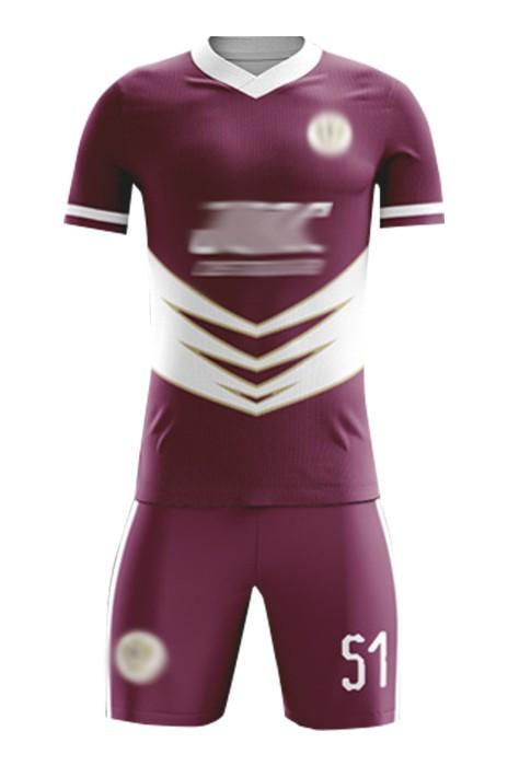 訂購足球社團足球服  自訂DIYV領足球服套裝 足球服專門店 FJ022