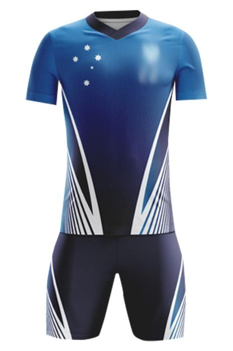 網上下單訂購教練團隊足球服  時尚設計熱升華足球服套裝 足球服制服店 FJ026