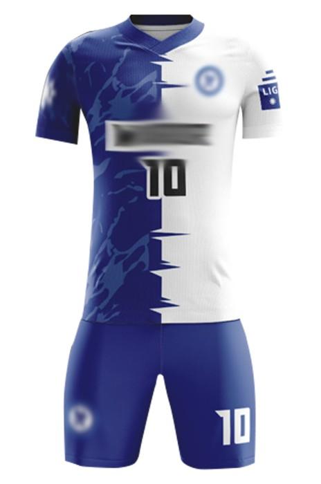 訂製訓練隊足球服 設計V領撞色足球服套裝 足球服生產商 FJ027