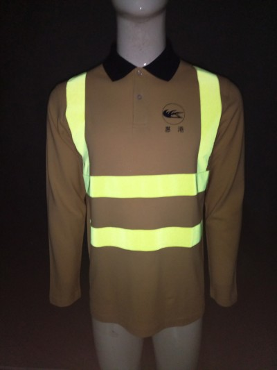 Tailor made polo shirts design reflective strip industrial for Tailor made shirts online