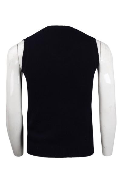 supply black V-neck cold vest 2/16s100% sheep hair 161G