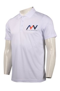P1000 custom-made white printed POLO shirt POLO shirt manufacturer