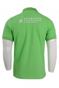 P1090 Make a net color Polo shirt Hong Kong Gifted Education College Polo shirt manufacturer  back view