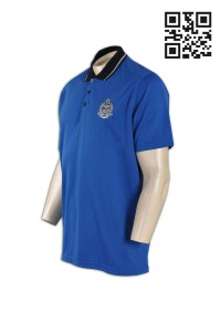 P575 DIY team group uniform polo shirt department polo shirts with embroidery pattern contrast color XXL XL large size polo supplier company