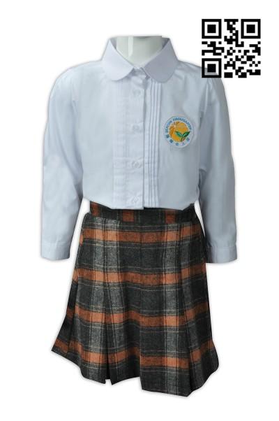 Self - made kindergarten uniform gout skirt design