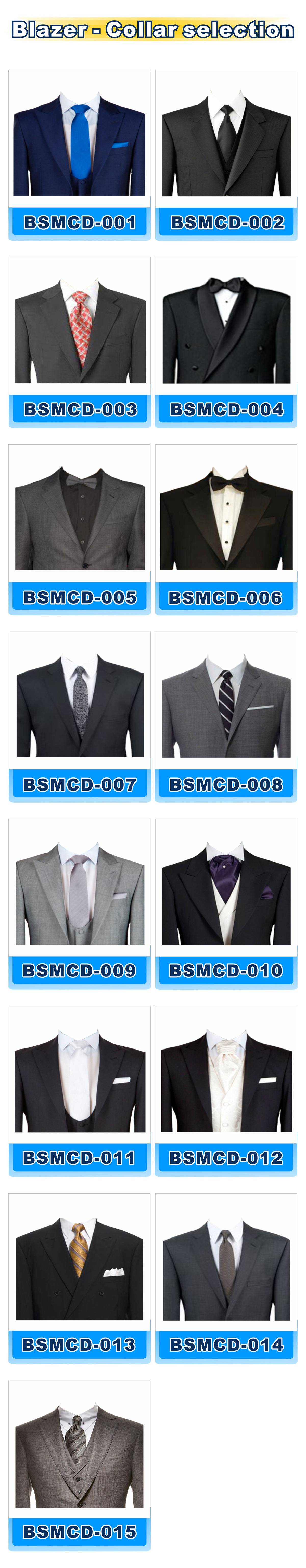 Blazer-collar selection