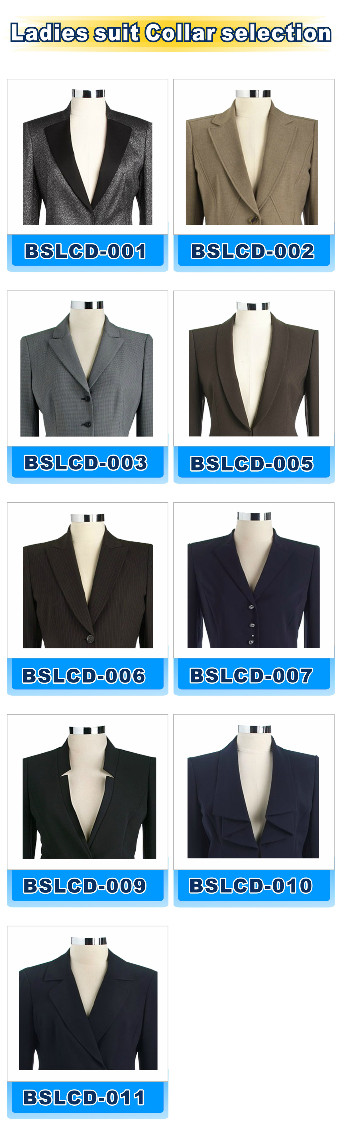 ladies suit collar selection 2