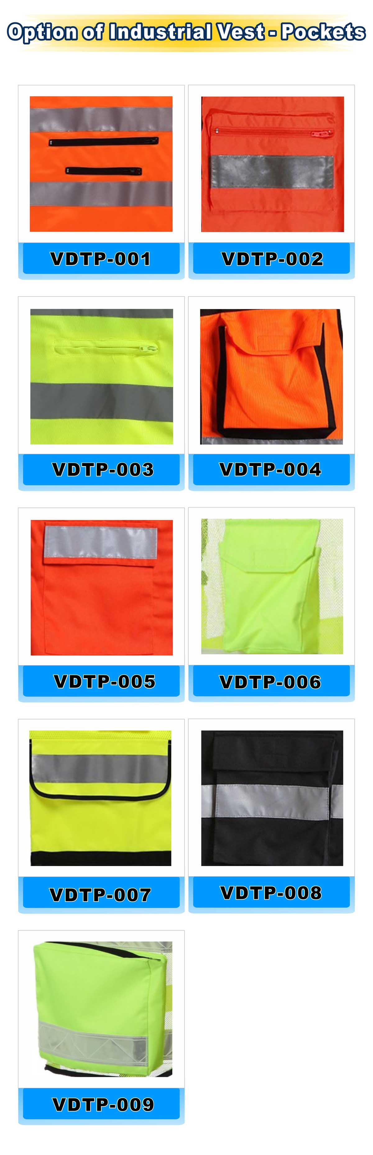 Option of lndustrial Vest-Pockets