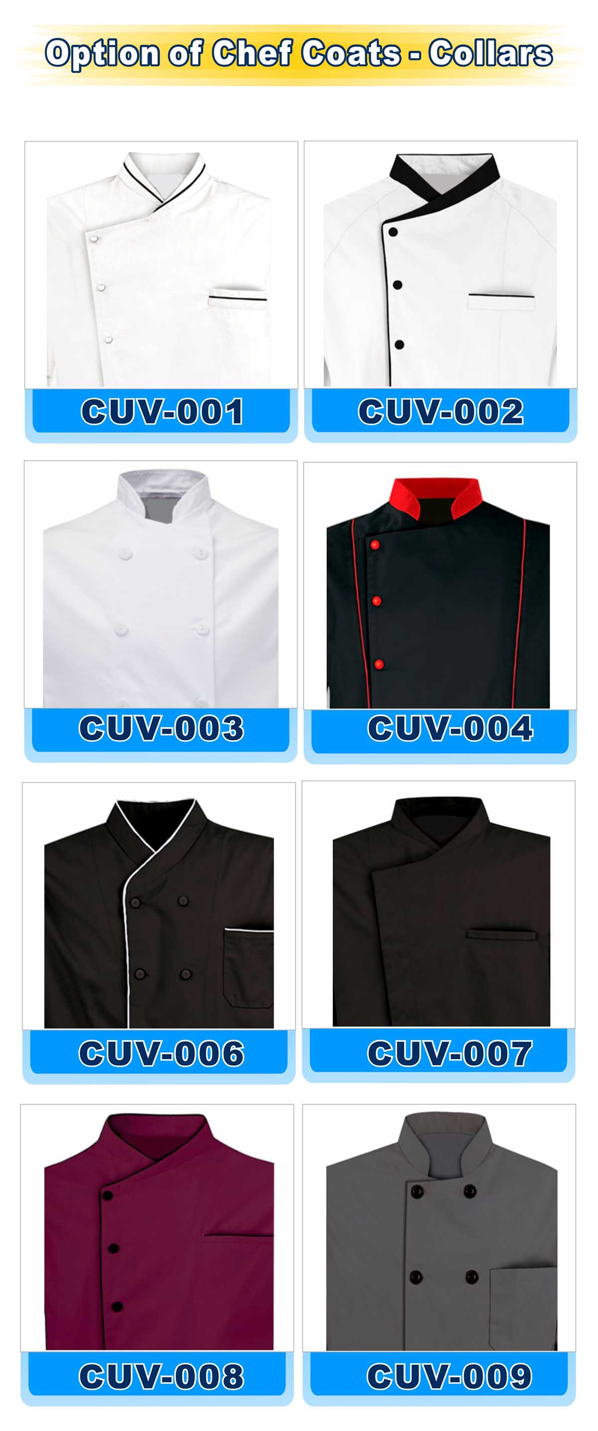 Option of Chef Coats-Collars