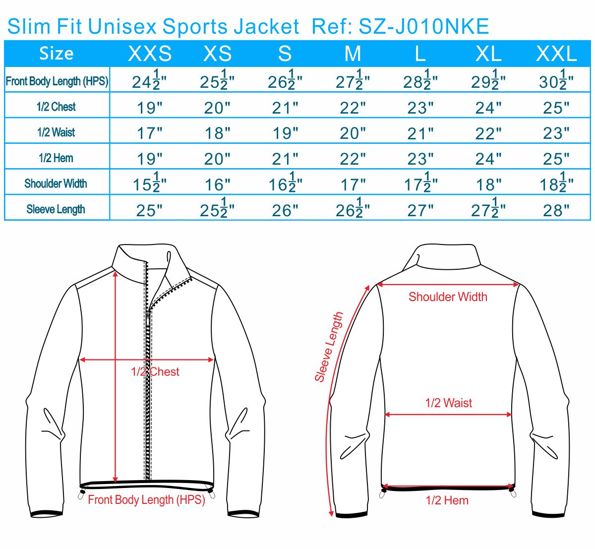 Slim Fit Unisex Sports Jacket