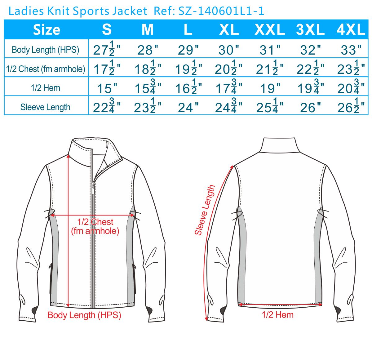 Ladies Knit Sports Jacket