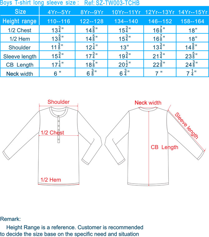 Boy T-Shirt long sleeve size