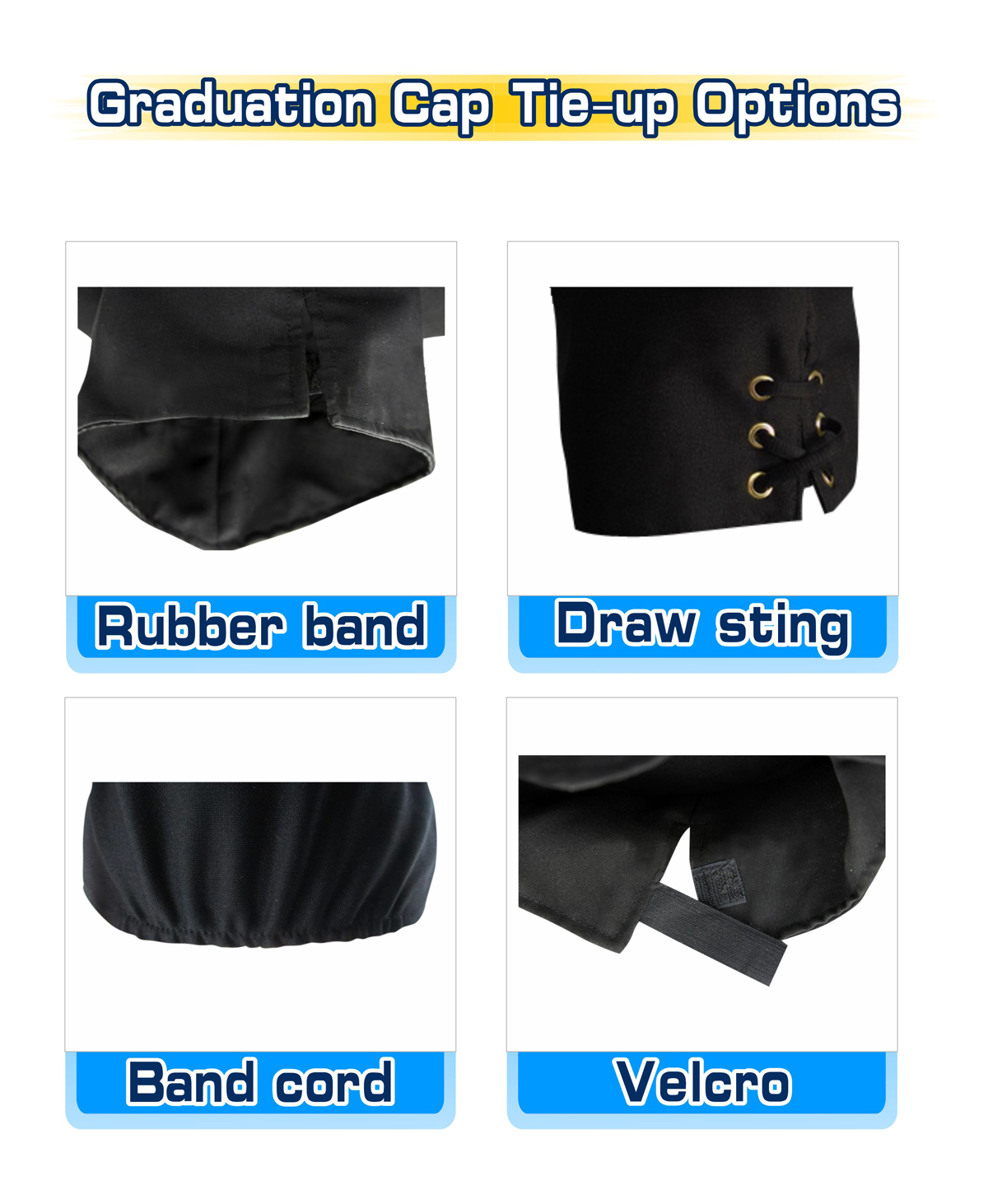Graduation Cap Tie-up Options