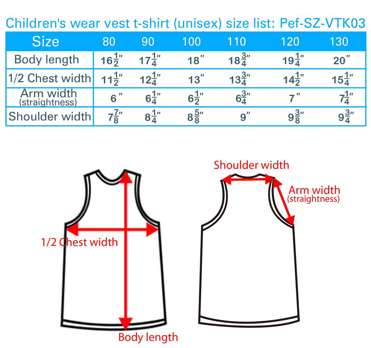 size-list-vest-t-shirt-unisex-childlren's-wear-20100131