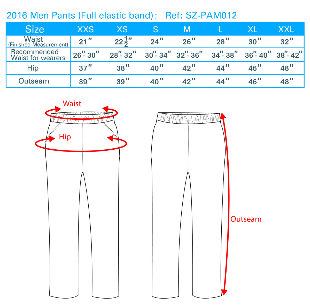 2016 Men Pants(Full elastic band)