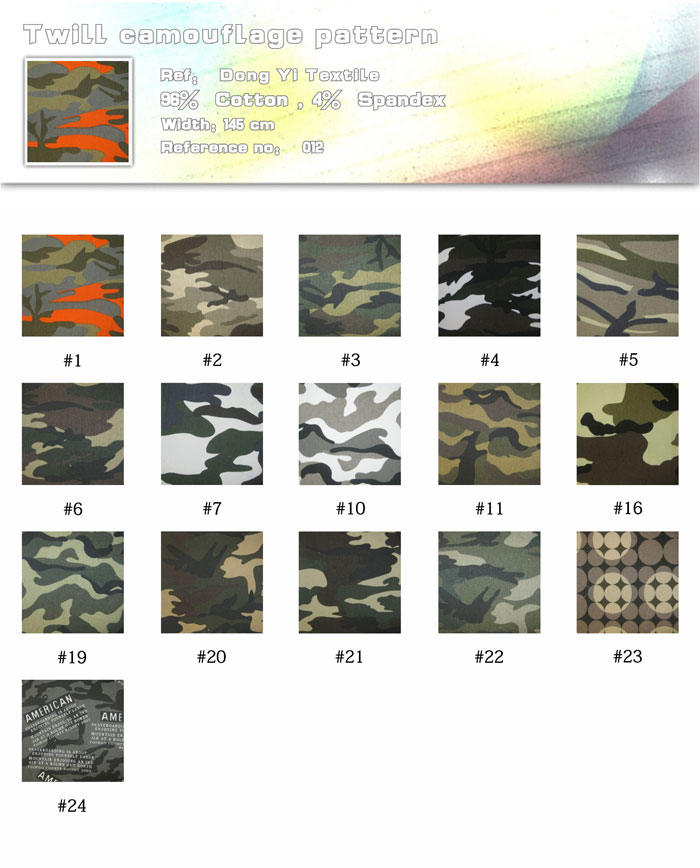 Twill camouflage pattern