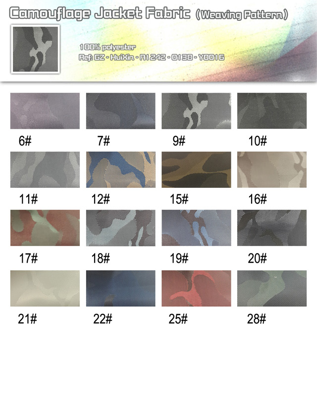 Camouflage Jacket Fabric(weaving pattern)